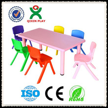 Wholesale price high quality school plastic folding kindergarten kids table and chair set QX-194G