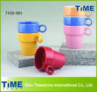 Wholesale Ceramic Stackable Coffee Mugs with Rack