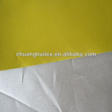 hot sale 100% polyester taffeta with silver coated fabric for car cover