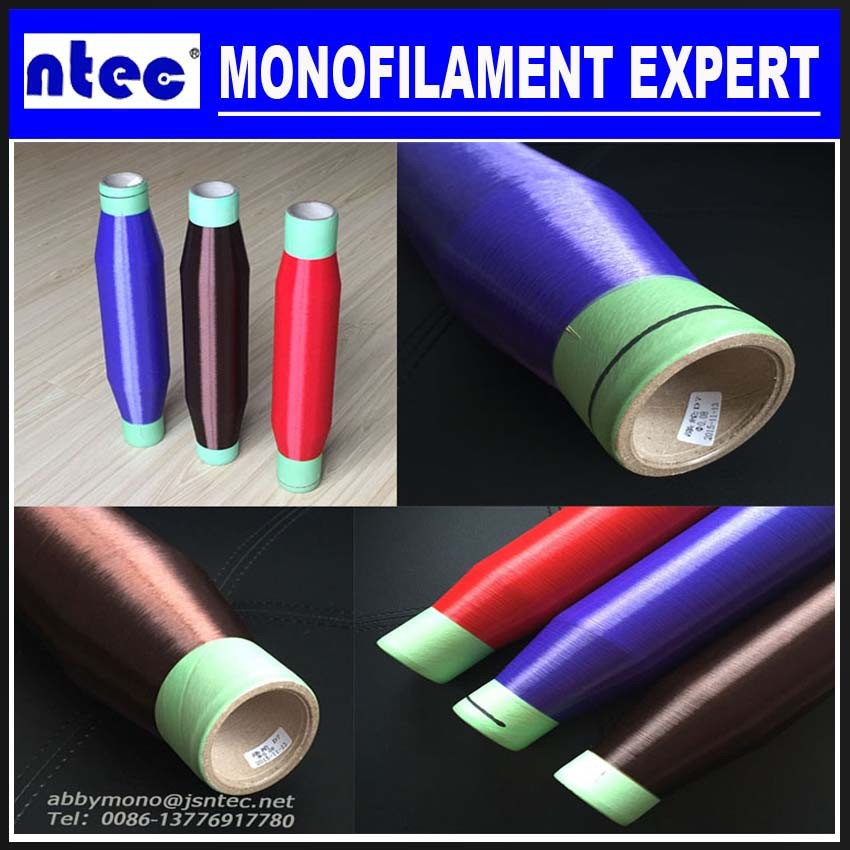 0.16mm PE monofilament knitting yarn HDPE and LDPE yarn different colors