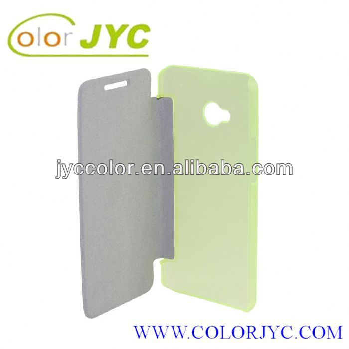 HJ213 leather pouch case for HTC one m7