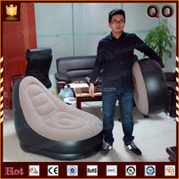 Modern design flocking giant advertising inflatable sofa