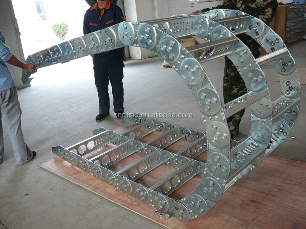 RUIAO flexible over load steel drag chain cable energy carrier chain