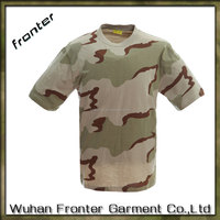 Cheap round neck t shirts 100% cotton wholesale camo t shirts