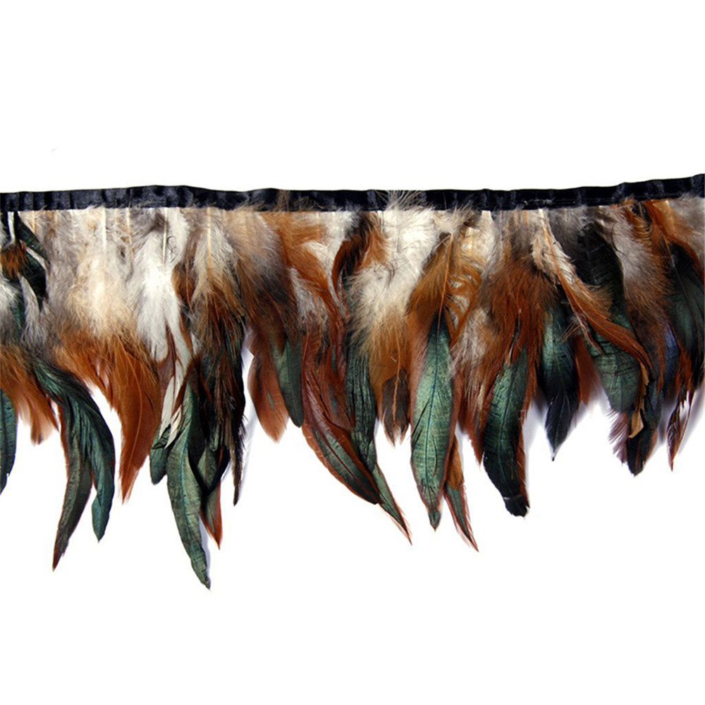 Rooster Feather Fringe Ribbon Trim Sewing Craft 13-18cm/5-7inch Width