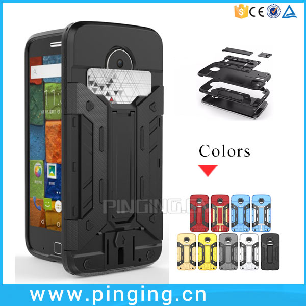 Fashion Wallet Credit Card Slot Kickstand Combo Case Cover For Moto Z Force