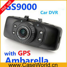 GS9000 1080P Car DVR 178 degrees wide Angle GPS 2.7inch LCD 5 Mega H.264 car camera recorder hd camcorder