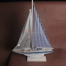 2016 hot selling mediterranean ship modles wooden sailboat for decoration