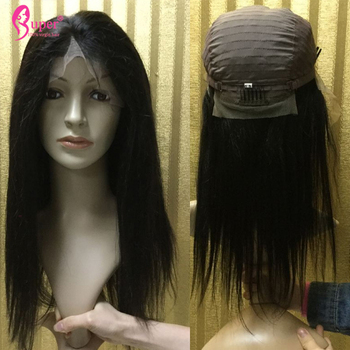Swiss Lace Front Wigs Straight Virgin Human Hair No Synthetic 100% Full Cuticle Aligned Tangle Free High Density Fast Shipping