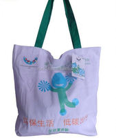 100% cotton grocery shopping bag/ paper bag with different handle types/ liferstyle tote bags