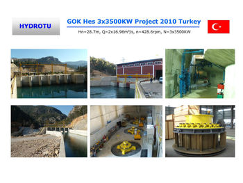 kaplan turbine generator 1mw hydro power plant equipment