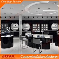 High-end custom jewellery showroom shop furniture design, glass jewelry display cabinet for shop counter design