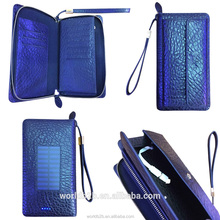 Mobile phone Genuine leather case with solar charger