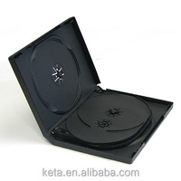 22MM Plastic Black Multi Disc DVD Cases For 6 Discs with 2 Trays