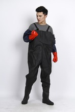 Adult fashion PVC rain coat/waterproof jacket/long adults long rubber waders pants