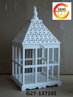 White decorative metal bird cages with white color