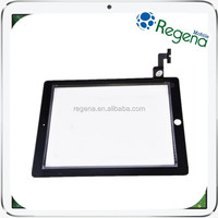 New Black Touch Sreen Digitizer with IC Connector Flex Assembly for iPad 2