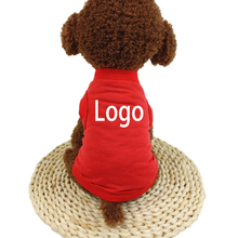 Hot selling custom logo cotton pet dog clothes for small dogs
