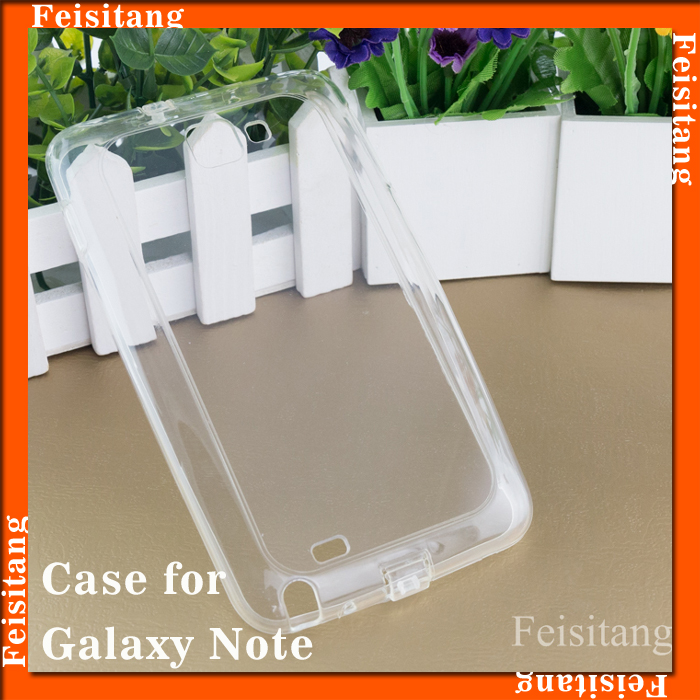 Case for Samsung galaxy note n7000 i9220 cover Transparent TPU mobile phone case cover