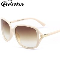 Acetate Big Eye Sunglasses 6# Off White