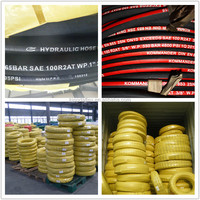 Two Wire Braided Steel Wire Spiral Rubber Hydraulic Oil Hose Pipe