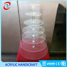 Multilayer clear acrylic wedding cake stand wedding cake display