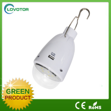 Solar emergency light for outdoor hand hold camping lamp DC light bulb with USB mobiles charged