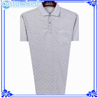 Collar Pocket Men T-shirt Custom Pocket T-shirt 100% Polyester T-shirt With Pocket