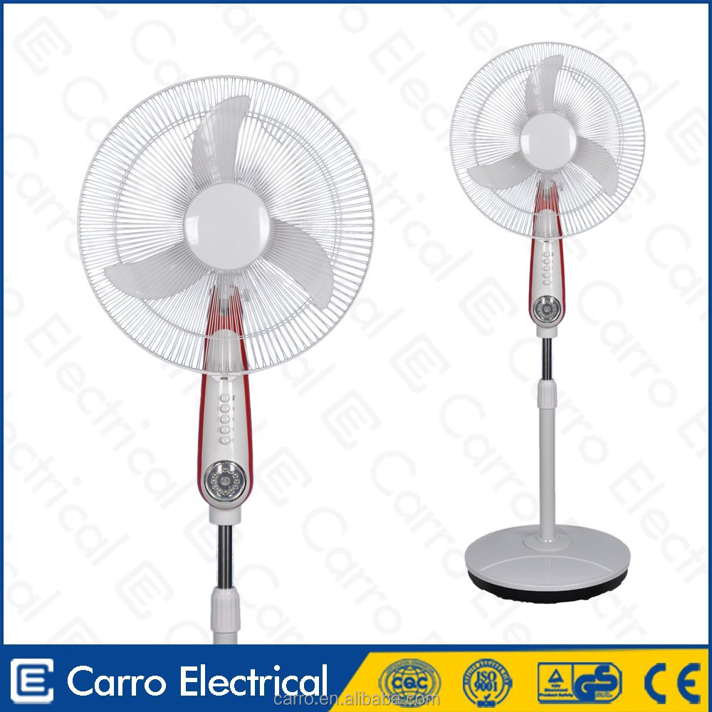 Best selling 16inch 18inch cooling dc rechargeable pedestal fan gfc pedestal fan