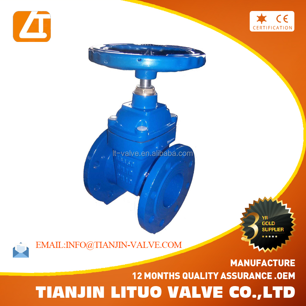 Metal Hard Seated Double Flange non-Rising Stem Gate Valve