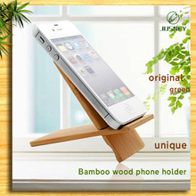 Upscale eco-friendly original wood bamboo phone stand holder