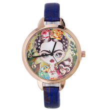 5135 Cute Girl Monkey Parrot Design watch fashion casual wholesale lady Thin leather quartz dress watch leather band for watch