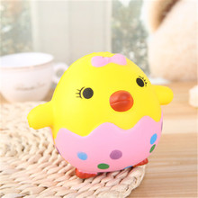 2018 New Design hot-selling slow rising squishy little fat chicken egg toys