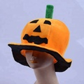 Fancy halloween orange Cloth Pumpkin Hat Smiling Face Hat