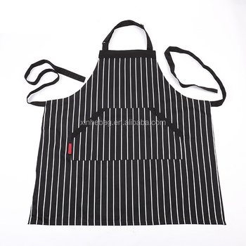 High quality printed adjustable kitchen bib apron with pockets