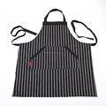 Unisex adjustable kitchen apron with pockets and extra long ties for chef works