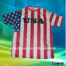popular sports national t shirt low price supplier