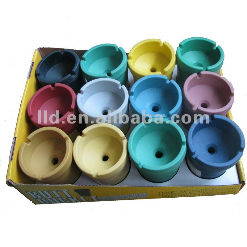 210564 New Style Colorful Butt Bucket, Ashtray