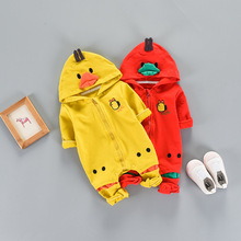 cute hooded design toddler romper baby animal jumpsuit