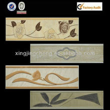ceramic border decor flower for inside wall tile