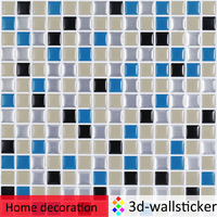 New mosaic tile! high quality glass mirror mosaic wall tile sticker