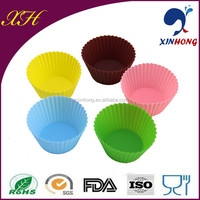 China Manufacturer Silicone Rubber Candy Colors Elastic Non-stick Cookies Tools Molds for Cake