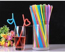 colored novelty plastic flexible drinking straws for kids