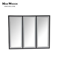 Metal frame decorative wall triple mirror