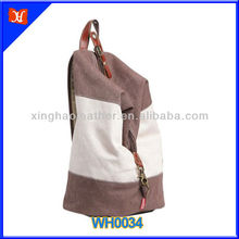 Best canvas backpack 2014 / leather trim canvas rucksack,fashion tubular backpacks bags.sail cloth backpacks