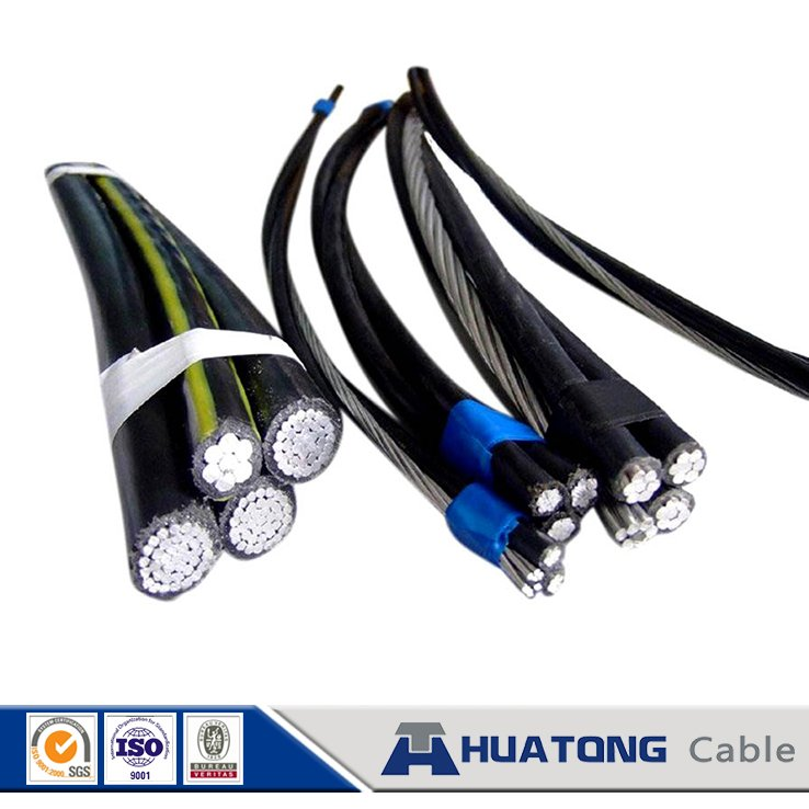 Home solar systems ACSR conductor xlpe quadruplex service drop Aerial Bundled Cable Gelding with 0.6 / 1 kv