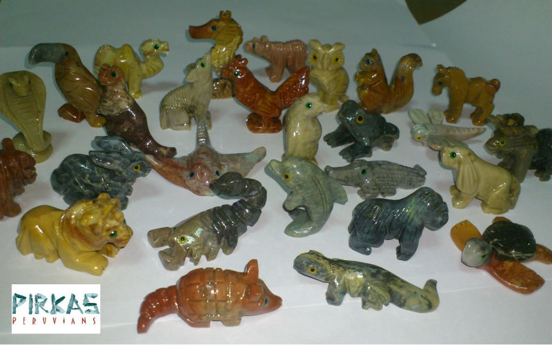 soap stone carved animals