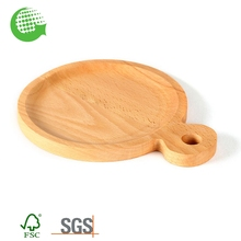 Cheap Natural Round Beech High Quality Wooden Cheese Cutting Board Set