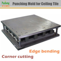 Punching mould for ceiling panel cutting bending and forming