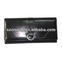 2015 ladies classic big long black wallet &purse